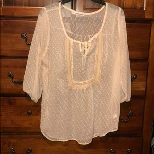 BUNDLE&SAVE! White sheer tunic material